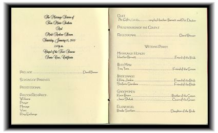 Program For The Wedding Ceremony